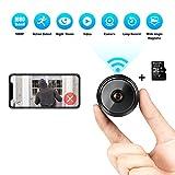 Mini Kamera 1080P HD Kleine WLAN Mini Überwachungskamera mit Nachtsicht-Bewegungserkennung und und...