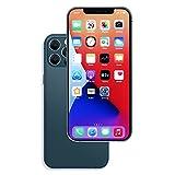Raytonee Gefälschte Telefon Metallic-Modell [2nd Gen] Dummy-Display Nicht funktionierende Replik Telefon Spielzeug für Phone 12 Pro 6,1 Zoll (Blau Menübildschirm)