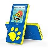 """MP3 Player Kinder, Bärenfussdesign MP4 Player 1,8"""" Bildschirm, MP3 Player mit Kopfhörer, UKW..."""