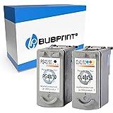 Bubprint Kompatibel Druckerpatronen als Ersatz für Canon PG-40 CL-41 für Pixma IP1600 IP1700 IP1900 IP2200 IP2500 IP2600 MP140 MP150 MP160 MP170 MP180 MP190 MP210 MP220 MP450 X MP460 MX300 2er-Pack