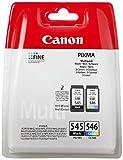 Canon Tintenpatronen PG-545 XL + CLI-546 XL BK/C/M/Y Multipack schwarz + Farbe 8ml + 9 ml ORIGINAL für PIXMA Drucker