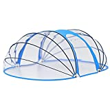 Tidyard Pooldach Poolkuppel Poolabdeckung Poolüberdachung Gartendach für Aufstellpool Oval 530x410x205 cm