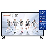 coocaa 42S3M 42 Zoll Smart Full HD LED Fernseher (106 cm) mit Android TV (schmaler Rahmen, Triple...