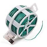 KLOUD City® 328Füße (100m) grün Multifunktions-stabile Garten Pflanze Twist Krawatte mit Cutter/Kabelbinder/Zip Tie/beschichtetem Draht