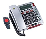 ELDAT Easywave Fon Alarm APF02, Hausnotruf Telefon mit Notrufarmband; schnurgebundenes...