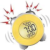 Banne Bon lauter Wecker, kein Ticken, für den Nachttisch, batteriebetrieben, Schlummerfunktion,...
