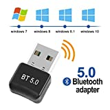 FAGORY Bluetooth 5.0 Adapter Bluetooth USB 5.0 Dongle Empfänger Bluetooth für Windows 10/8.1/8 / 7...