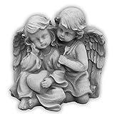 Wunderschöne Stein - Figur Engelpaar aus Steinguss, frostfest Grabdeko