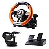 PXN V3 Rennlenkrad Gaming 180° Universal USB Autorennspie Spiel Lenkrad mit Pedalen und...
