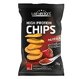 Layenberger High Protein Chips Paprika, satte 43,1 % Eiweiß und nur 21,2 % Kohlenhydrate bei nur 2,3 g Zucker, nicht frittiert, (1 x 75 g)