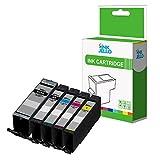 InkJello Kompatibel Tinte Patrone Ersatz für Canon Pixma TR7550 TR8550 TS6150 TS6151 TS8150 TS8151 TS8152 TS9150 TS9155 PGI-580XXL / CLI-581XXL (Groß-Schwarz/Klein-Schwarz/Cyan/Magenta/Gelb, 5-Pack)