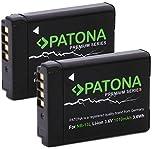 Patona Premium (2x) Ersatz für Akku Canon NB-13L (echte 1010mAh) - PowerShot SX620 SX720 SX730 SX740 G1 X III G5 X I II G7 X I II III G9 X I II