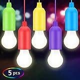 BINKE Lamping LED Leuchte,Lampen Camping Laterne,Pull Light mit Zugschalter,LED Leuchte weiß Colors Glühbirnen für Party, Garten, Wandern, Angeln, Zelt,als dekorative Lampe Batteriebetrieben
