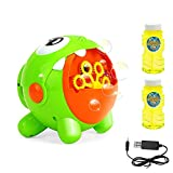 EXTSUD Seifenblasenmaschine, Automatische Bubble Maschine Blasenmacher mit 2 Flüssigkeit Baby Badewannenspielzeug Elektrisches Blasenspielzeug für Kinder Hochzeit Geburtstag Party