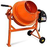 VidaXL 141200Betonmischer, Elektrisch, 63L, 220W, Stahl, orange