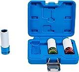 BGS 7200   Kraft-Schoneinsatz-Satz   3-tlg.   12,5 mm (1/2')   SW 17 / 19 / 21 mm   mit Kunststoffhülse   farblich codiert