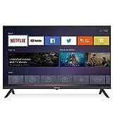Caixun EC32S2N 81cm(32 Zoll) HD Smart TV LED Fernseher (Netflix, YouTube, Dolby Audio, WiFi, Facebook,Triple Tuner, DVB-T/T2/S/S2, HDMI) [Modelljahr 2021]