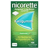 NICORETTE Kaugummi 2mg freshmint – Nikotinkaugummi zur Raucherentwöhnung – Minzgeschmack –2mg Nikotin – Rauchen aufhören
