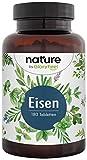 Eisen 40mg plus 40mg natürliches Vitamin C - Hoch bio-verfügbare Premiumrohstoffe: Eisenbisglycinat (Eisen-Chelat) + Acerola Pulver - 180 vegane Tabletten - Laborgeprüfe Herstellung in Deutschland