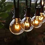 Lichterkette Außen FOCHEA Lichterkette Glühbirnen G40 11m 30er Globe LED Birnen Lichterkette Garten IP44 Wasserdichte für Weihnachten Hochzeit Party Aussen Dekoration Warmweiß