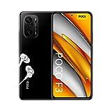 POCO F3 NFC Smartphone + Kopfhörer (16,94cm (6,67') AMOLED Display 120Hz, 6GB+128GB Speicher, 48MP Quad-Rückkamera, 20MP Frontkamera, Dual-SIM, Android 11) Schwarz - [Exklusiv bei Amazon]