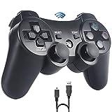 Sefitopher Controller für PS3 Wireless Controller Compatible für Playstation 3 Bluetooth Gamepad mit Double Shock, Ladekabel