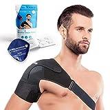 Sports Laboratory Schulterbandage Verstellbare mit Wärme & Kälte-Therapiekompresse, für alle Schulter Schulterschmerzen, für beide Arme, für Rotatorenmanschette, Verstellbare Größe, Broschüre
