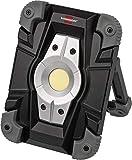 Brennenstuhl Akku LED Arbeitsstrahler ML CA 110 M / LED Baustrahler für außen 10W (Robuste LED Arbeitsleuchte Akku mit Powerbank-Funktion und Transporttasche, Gehäuse aus Aludruckguss, 1000lm, IP54)
