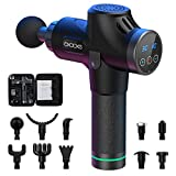 OxaOxe Massagepistole Massage Gun mit 10 Massageköpfen und 30 einstellbaren Geschwindigkeiten Massagegegerät elektrisch für Nacken Rücken usw