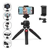 Polarduck Mini Stativ, Handy Stativ, Kamera Stativ, Stativ für iPhone/DLSR/Beamer/Webcam mit GoPro...