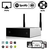WiFi & Bluetooth Audio-Verstärker & Empfänger | Arylic A50 | Mehrraum Synchronisation | Airplay DLNA | 24bit 192 kHz Samplerate | 80W x2 Kanal | LAN Verbindung | Lautsprecher Musik Streamen