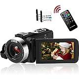 Videokamera Camcorder Full HD 2.7K 42MP Video Camcorder 18-Fach Digitalzoom Fülllicht Pausenfunktion mit 3,0-Zoll-LCD und 270-Grad-Drehbildschirm Camcorder Kamera mit Fernbedienung