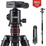 ESDDI Kamera Stativ 162cm Aluminiumlegierungen Stativ mit Einbeinstativ und 360° Kugelkopf...