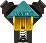 wolfcraft ES 22 Eckenspanner 3051000 Set – 2 Winkelspanner zur Fixierung von Brettern und Rahmen im 90° Winkel – Eckspanner für Brettstärken von 10-22mm