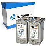 Bubprint Kompatibel Druckerpatronen als Ersatz für Canon PG-50 CL-51 für Pixma IP2200 MP150 MP160 MP170 MP180 MP450 MP450X MP460 MX300 MX310 Multipack Schwarz und Farbig 2er-Pack