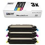 3X Eurotone Toner für Canon I-Sensys LBP 5300 5360 wie 711 CRG711 Color