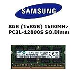 Samsung 8GB (1x 8GB) DDR3 1600MHz (PC3L 12800S) SO Dimm Low Voltage Notebook Laptop Arbeitsspeicher RAM Memory