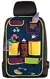 Walser 30145 Auto Organizer Kinder, Rückenlehnenschutz Kinder, Driver Jack Blau/Gelb