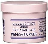 Maybelline New York Augen Make-Up Entferner Pads / Eye Make-Up Remover Pads, für eine schnelle und gründliche Entfernung von Schminke, 1 x 50 Stück