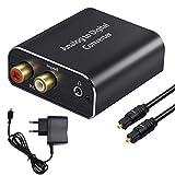 AMANKA Analog zu Digital Audio Konverter mit Optischem Kabel- Analog auf Digital Wandler RCA Cinch +...