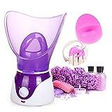 Personal Dampf Inhalator Sauna Nano Ionic Gesichtsdampfer Hot Mist Feuchtigkeits Schönheit Instrument (purple)