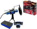 Raiden - Zubehörpaket für Streaming-Gamer und Youtubers, Full HD Video Capture Box, Mikrofon, HD-Kamera - PS4, PS5, Xbox serie x: Xbox One, Umschalter, PC