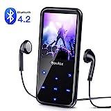 MP3 Player,16GB Bluetooth MP3 Player mit Kopfhörer, MP3 Player 60 Stunden Spielzeit, Lautsprecher FM Radio Voice Recorder 2.4 Zoll TFT Bildschirm Speicher Erweiterbar bis 128 GB von COULAX