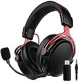 2.4G Wireless Gaming Headset für PS4, PS5, PC, Switch, Mac, USB Gaming Kopfhörer mit Zweikammer-Treiber, 17 Stunden Akkulaufzeit (optional kabelgebunden), Mikrofon mit Geräuschunterdrückung