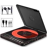 Tragbarer CD Player, Persönlicher Wiederaufladbar MP3 CD Player mit Doppelte 3.5mm Kopfhörern Buchse Disc Walkman mit stoßfester Schutz Für Kinder & Erwachsene