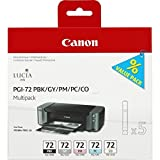Canon Tintenpatrone PGI-72 PBK/GY/PM/PC/CO Multipack - 14 ml - Original für Tintenstrahldrucker