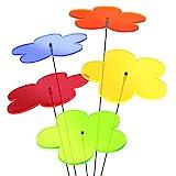 SUNPLAY 'Sonnenfänger Blumen' im FARBMIX, 5 Stück zu je 20 cm Durchmesser im Set + 70 cm Schwingstäbe