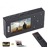 Denash Audio Video Grabber digitalisiert Videobänder Direkt auf Speicherkarte, 3 Zoll TFT Bildschirm AV Recorder für Videorecorder, VHS-Kassetten, Hi8, Camcorder, DVD, Digitaler Videoaufnahme