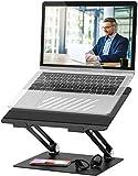 Laptopständer Einstellbar Notebook Ständer mit Heat-Vent Multi-Angle Kompatibel für 10-17 Zoll...