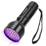 YOUTHINK UV Taschenlampe Schwarzlicht 51 LED Handlampe Mini Ultraviolett Haustiere Urin-Detektor für unechte Banknoten, Urin von Hunde, Katzen,Gardinen
